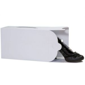 White Stackable Ladies Shoe Box