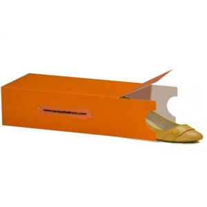 1 Ladies Tangerine Stackable Shoe Box