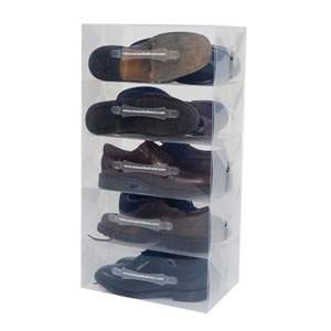 Pack of 5 Men's Clear Shoe Boxes