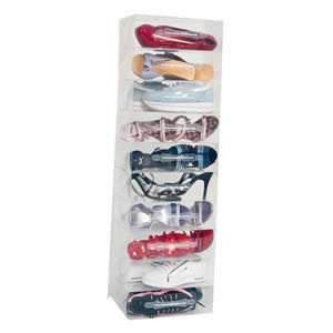 10 Ladies Stackable Clear Shoe Storage Boxes