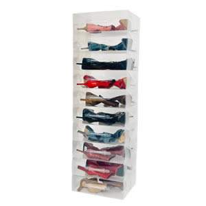 10 Stackable Clear Mid Calf Boots Storage Boxes