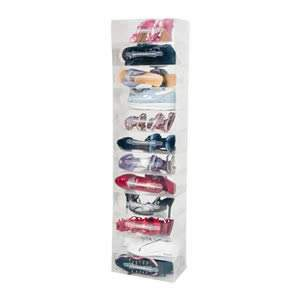 12 Ladies Stackable Clear Shoe Storage Boxes