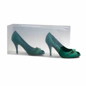 Ladies Stackable Clear Shoe Storage Box