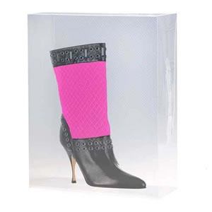 Stackable Clear Mid Calf Boots Storage Box