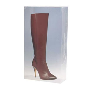 Stackable Clear  Knee Length Boots Storage Box