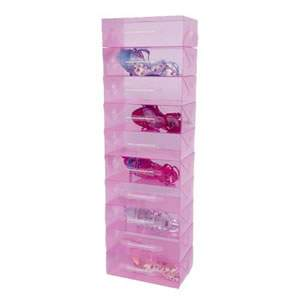 12 Stackable Pink Shoe Storage Boxes