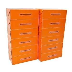 25 Ladies Tangerine Stackable Shoe Boxes