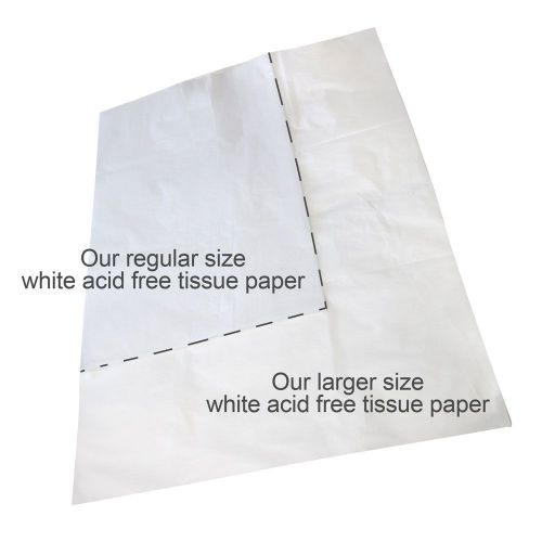 Pack of 25 Jumbo Sheets of White Acid Free Tissue Paper