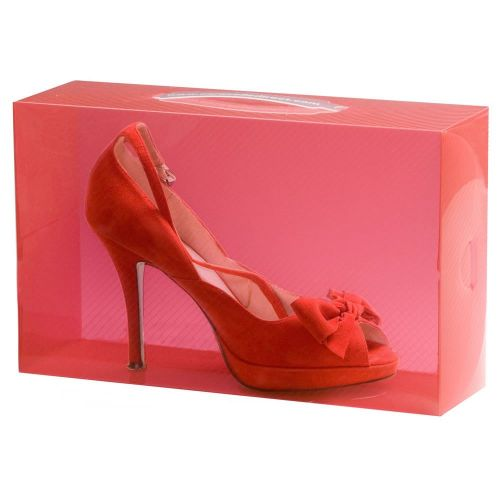 1 Red Stackable Ladies Shoe Box