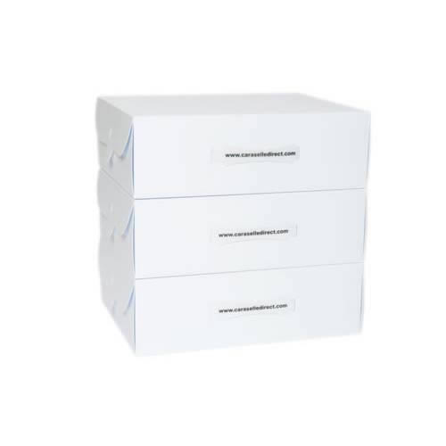 3 White Storage Boxes